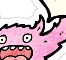 friendly pink monster cartoon Sticker