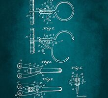 Police Nippers Patent 1914 by Patricia Lintner