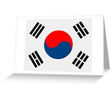 Flag of South Korea Greeting Card