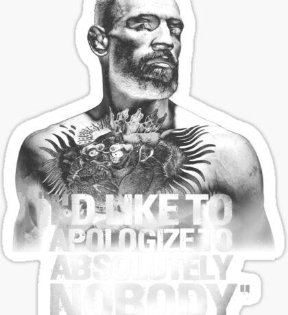 McGregor - Apologize to Nobody Sticker