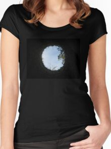 Skyview at the Blarney Castle  Women's Fitted Scoop T-Shirt