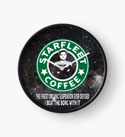Janeway's Coffee in Space Clock