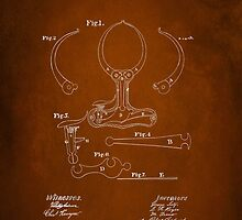 Police Nippers Patent 1870 by Patricia Lintner