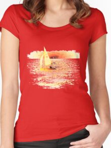 Sailing Lake Ontario Women's Fitted Scoop T-Shirt