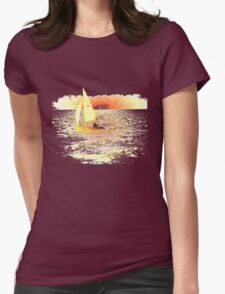 Sailing Lake Ontario Womens Fitted T-Shirt