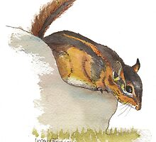 Fat Chipmunk by Lynn Oliver