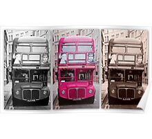 London Routemaster Triptych Poster