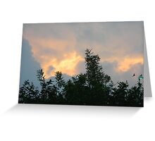 Clouds on Fire - Sunrise and Sun Facts Greeting Card