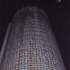 The Silo at Wagner's Farm on Halloween Night by Jane Neill-Hancock