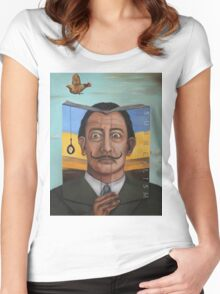 The Book Of Surrealism Women's Fitted Scoop T-Shirt