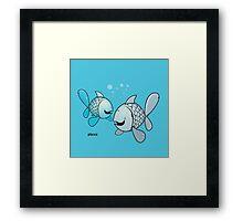 funny zodiac/pisces Framed Print