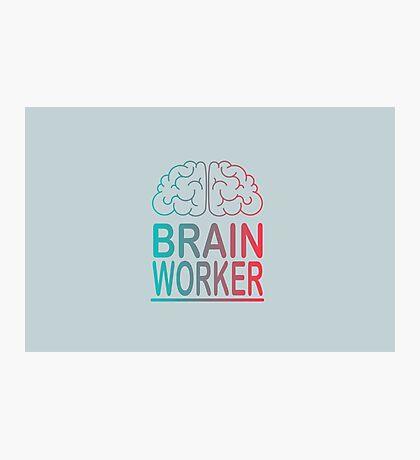 Brain worker Photographic Print