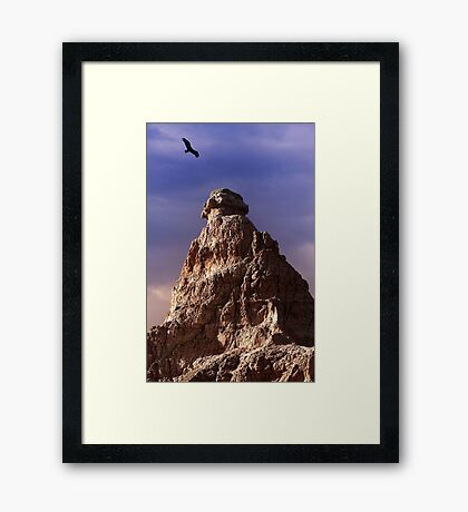 Sunrise over Badlands Window Trail .2 Framed Print