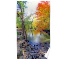 Autumn At Petrifying Springs Poster