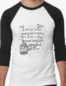 I am no bird // Jane Eyre Men's Baseball ¾ T-Shirt
