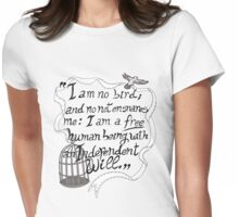 I am no bird // Jane Eyre Womens Fitted T-Shirt