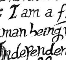 I am no bird // Jane Eyre Sticker