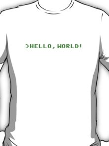 Hello World Computer Programming T-Shirt