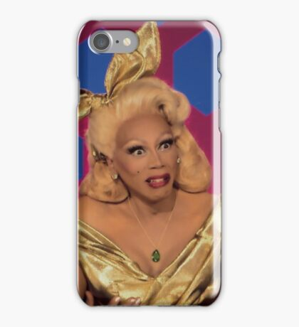 RUPAUL'S DRAG RACE BRING BACK MY GIRLS FUNNY FACE iPhone Case/Skin