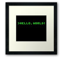 Hello World Computer Programming Framed Print