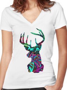 Stagg - ONE:Print Women's Fitted V-Neck T-Shirt