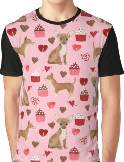 Chihuahua valentines day cute gift for dog breed lover valentine pet friendly pet portrait love hearts Graphic T-Shirt