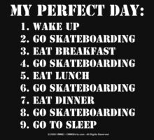 My Perfect Day: Go Skateboarding - White Text by cmmei
