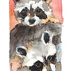 Two Coons by Lynn Oliver
