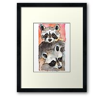 Two Coons Framed Print