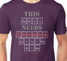 Periodic Table of Elements Things a Genius Needs  Unisex T-Shirt