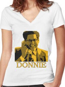 The Wolf Of Wall Street - Donnie Women's Fitted V-Neck T-Shirt