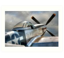 P51 Mustang - Ready for action Art Print