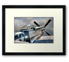 P51 Mustang - Ready for action Framed Print