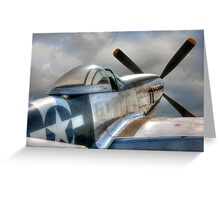 P51 Mustang - Ready for action Greeting Card