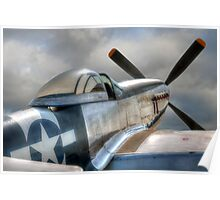 P51 Mustang - Ready for action Poster