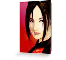 Crimson Lady Greeting Card