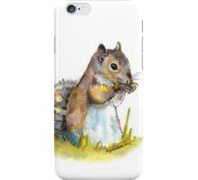 Squirrel Tasting a Flower iPhone Case/Skin