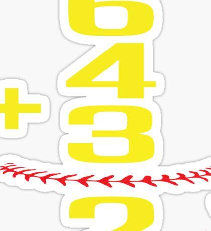 Baseball Softball Double Play Sticker