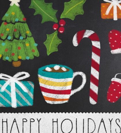 Happy Holidays - Chalk board Sticker