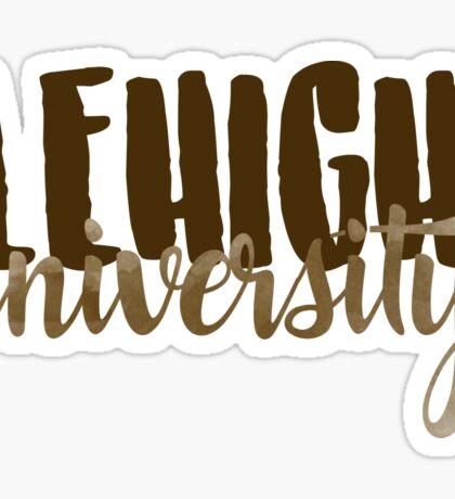 Lehigh Brush Script Sticker