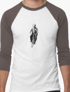 Albert Einstein on a Bike Men's Baseball ¾ T-Shirt