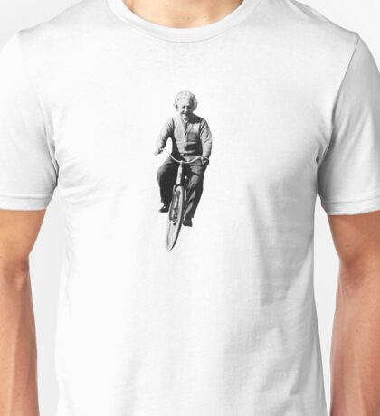 Albert Einstein on a Bike Unisex T-Shirt