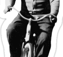 Albert Einstein on a Bike Sticker