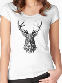 Ornate Buck Women's Fitted Scoop T-Shirt
