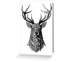 Ornate Buck Greeting Card