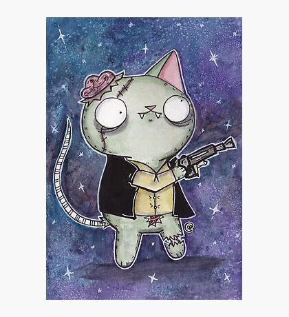 Zombie Han Solo Cat Photographic Print