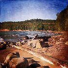 Michigan Upper Peninsula Shoreline by perkinsdesigns