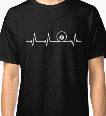 8 Eight Ball Heartbeat Billiard Funny Cool Gift Classic T-Shirt
