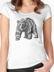 Ornate Bear Women's Fitted Scoop T-Shirt