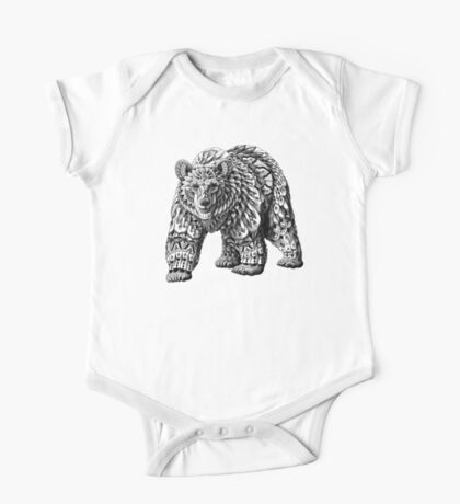 Ornate Bear One Piece - Short Sleeve